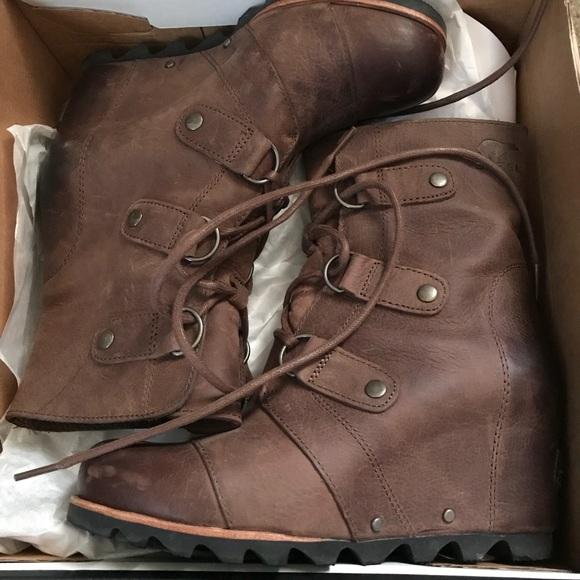 788692cd3cae Sorel Shoes - Sorel Joan of Arctic Wedge Mid- Tobacco